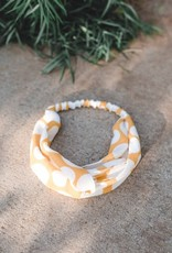 Yellow polka dot headband