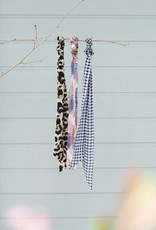 Leopard scrunchie & scarf combo