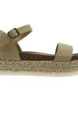 Canvas one band espadrille flatform w/ankle strap
