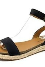 Black one band ankle strap sandal