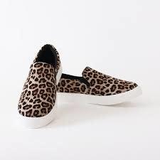 Cheetah print slip on sneakers