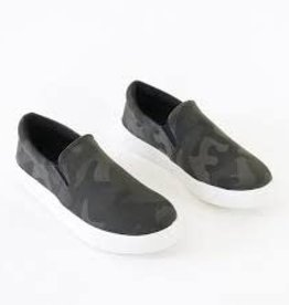 Camo slip on sneakers