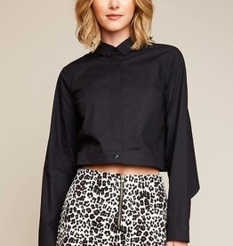 Leopard print high waist shorts w/front zipper