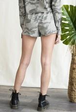 Camo paper bag shorts