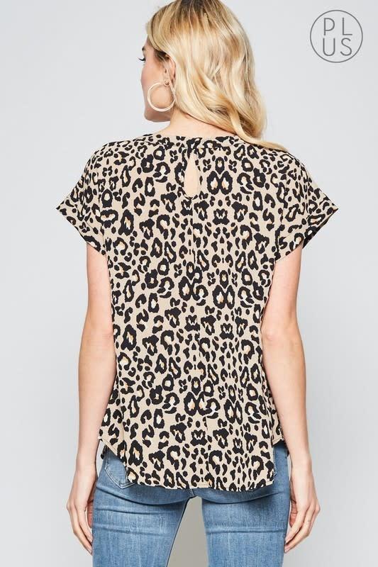 Leopard print ss top