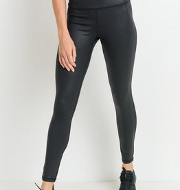 Black highwaist faux scale leather leggings