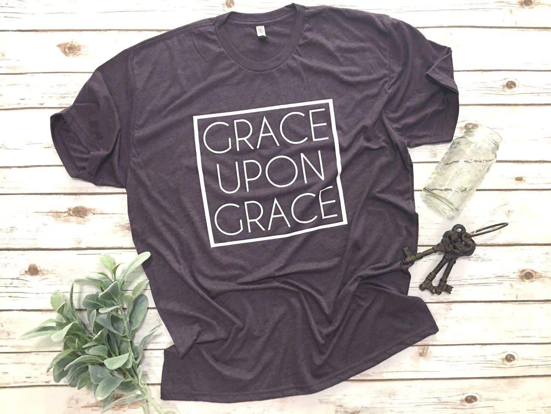Grace Upon Grace vintage purple tee