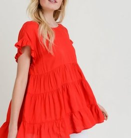 Red ss tiered top