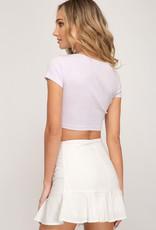 Flounce mini skirt