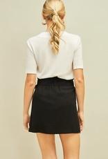 Black paper bag O ring skirt