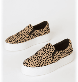 Tan & black leopard step in sneakers