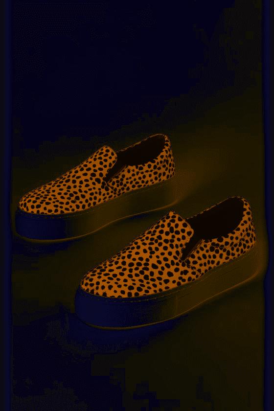 Tan & black leopard step in sneakers