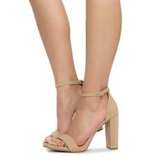 Taupe nubuck heels w/ankle strap