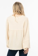 Peasant style top w/puff sleeves