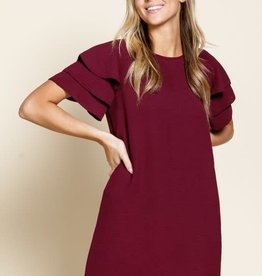 3 Tier ruffle sleeve dress