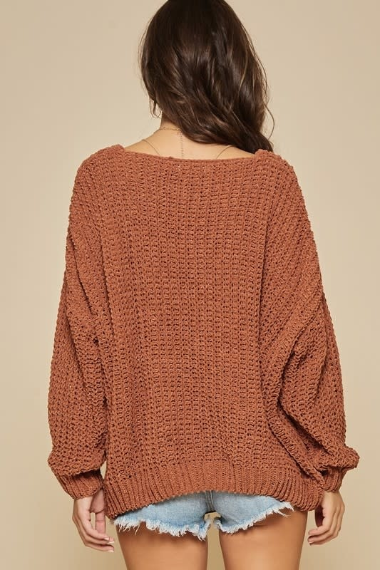 Oversize chenille sweater