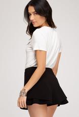 Black double layered shorts