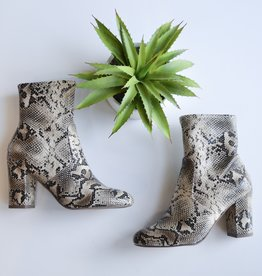Natural python ankle boot