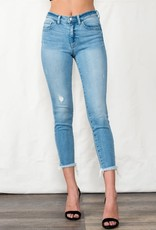ML wash mid rise crop jeans