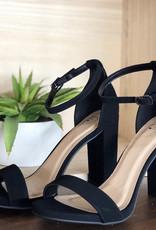 Black nubuck heels w/ankle strap
