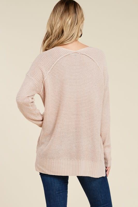 Oatmeal waffle sweater