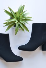 Black chunky heel ankle boot