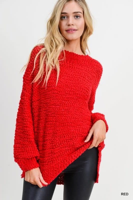 Boucle knit sweater