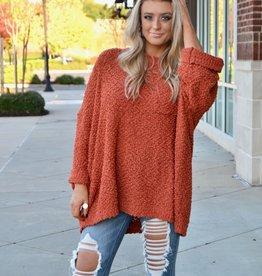 Popcorn oversized pocket sweater