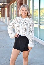 Ivory chenille hooded sweater