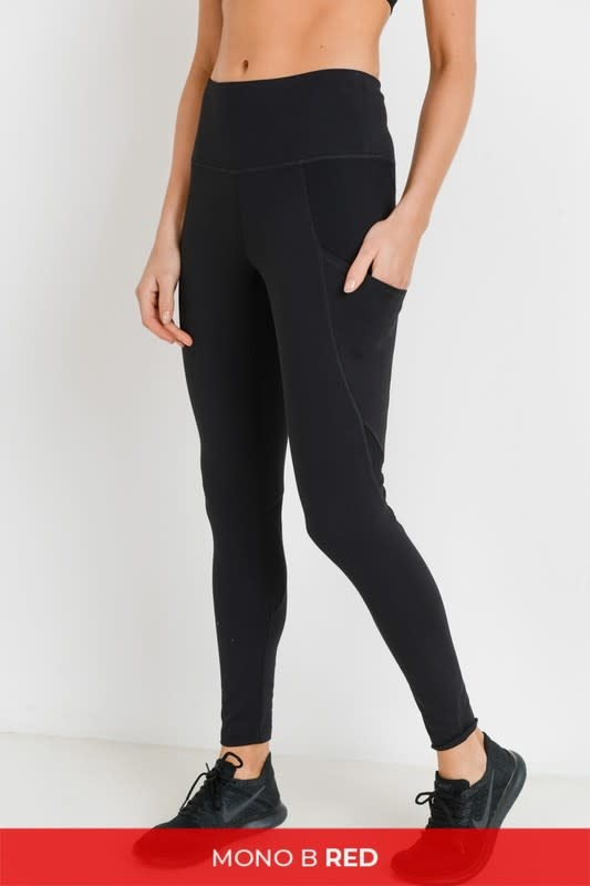 Ribbed & smooth combo leggings