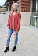 Rust button front detail top