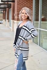 Grey stripe cardigan