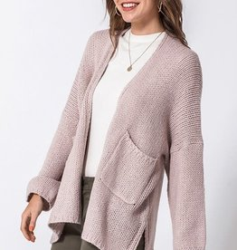 Mauve oversized heavy cardigan