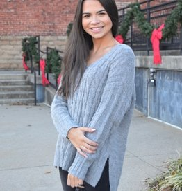H Grey V neck sweater