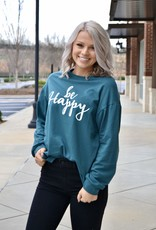 Be Happy graphic pullover