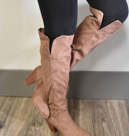 Tall, split side, heel boots