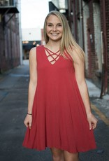 strappy sleeveless dress w/pockets