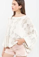 Cream chenille sweater