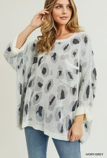 Oversized leopard print pullover
