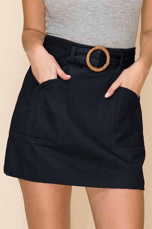 A line skirt w/ O ring belt