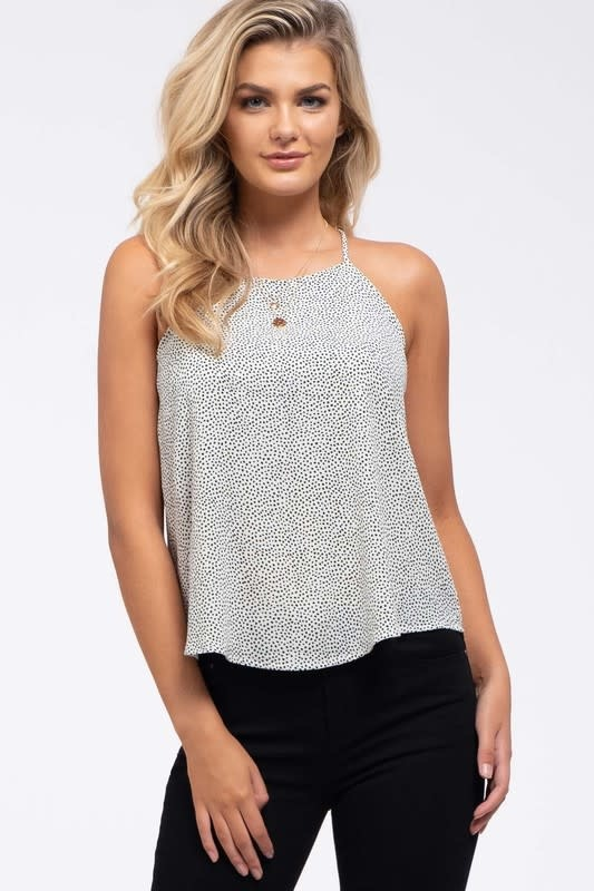 Dotted high neck cami