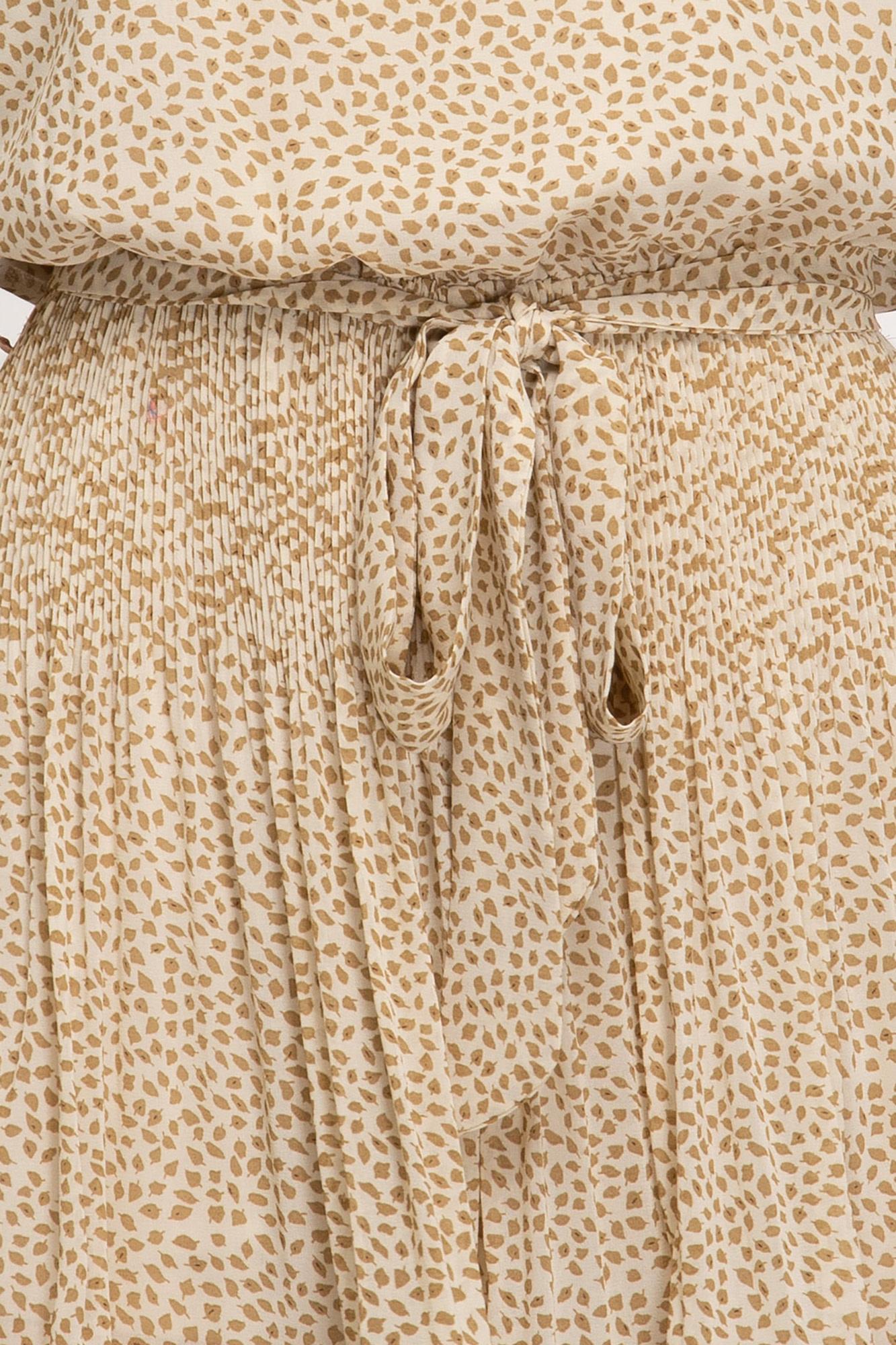 Printed romper w/pleated shorts