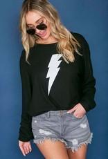Black lightning bolt sweatshirt