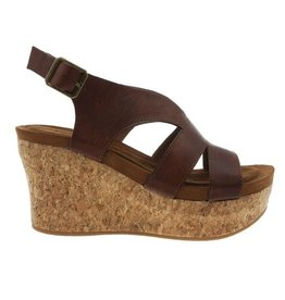 Whiskey strappy buckle strap wedge sandal