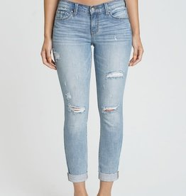 Bite the bullet distressed mid rise jeans