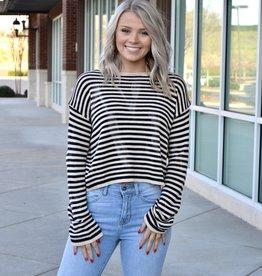 Striped tie dye sweater