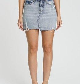 Alexis high rise denim skirt