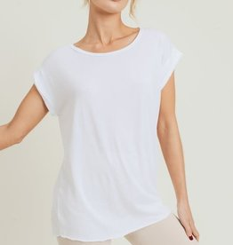 White cap sleeve open back top