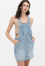Lt denim overall dress