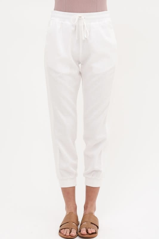 Side ribbed jogger pants
